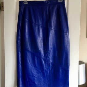 Leather Skirt Sienna blue 14/L